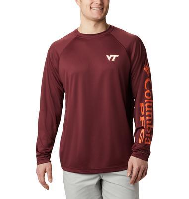 Virginia Tech Columbia Men's Terminal Tackle Long Sleeve Shirt - Tall Sizing