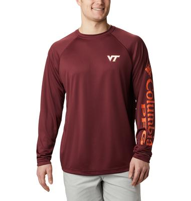 Virginia Tech Columbia Men's Terminal Tackle Long Sleeve Shirt - Big Sizing