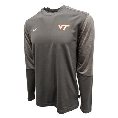 Virginia Tech Nike Dri-Fit UV Coaches L/S T-Shirt