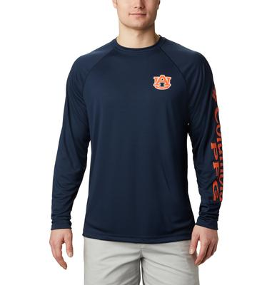 Auburn Columbia Men's Terminal Tackle Long Sleeve Shirt - Big Sizing
