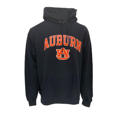Auburn Champion Fleece Screen Print Arch with Logo Hoodie