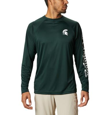 Michigan State Columbia Men's Terminal Tackle Long Sleeve Shirt - Big Sizing