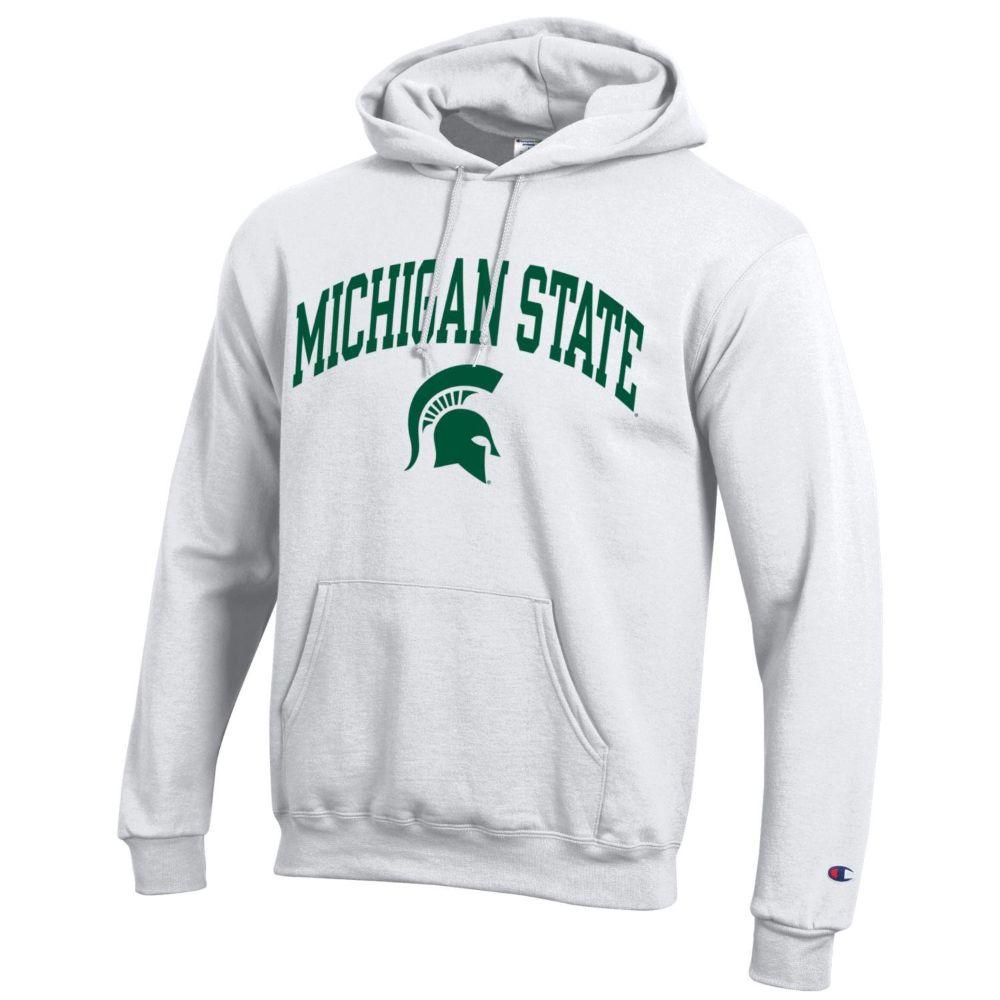 Michigan State Champion Fleece Screen Print Arch With Logo Hoodie