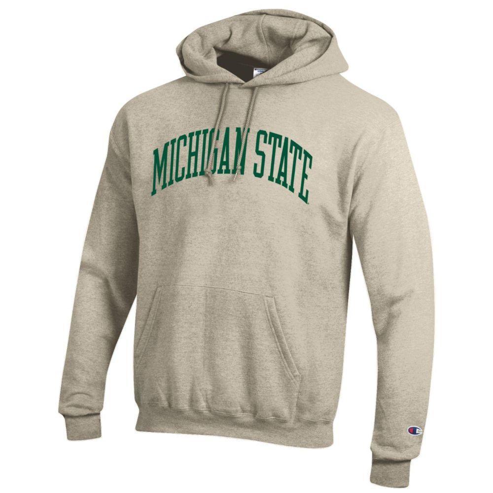Michigan State Champion Fleece Screen Print Arch Hoodie