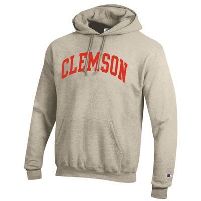 Clemson Champion Fleece Screen Print Arch Hoodie