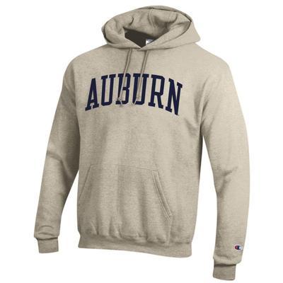 Auburn Champion Fleece Screen Print Arch Hoodie