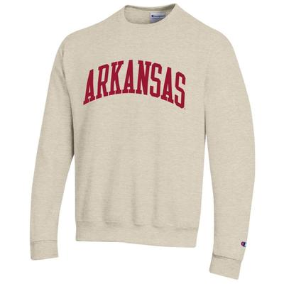 Arkansas Champion Fleece Screen Print Arch Crew