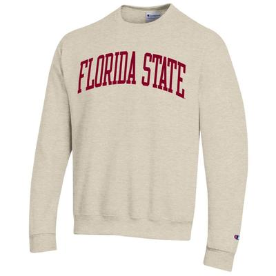 Florida State Champion Fleece Screen Print Arch Crew