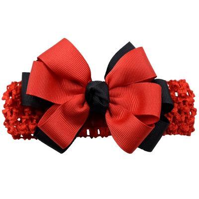 Red & Black Fluff Crochet Headband