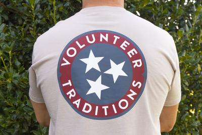 Tennessee Volunteer Traditions Tri-Star Oatmeal Pocket Tee