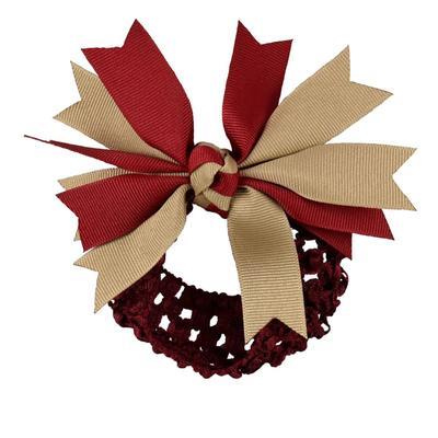 Garnet & Khaki Pinwheel Crochet Headband