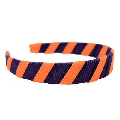 Orange & Purple Wrap Headband