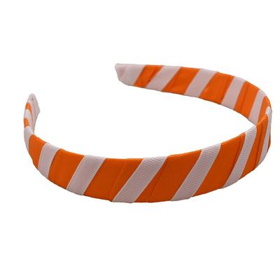 Orange & White Wrap Headband