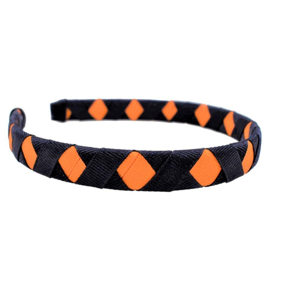 Navy & Orange Criss Cross Headband