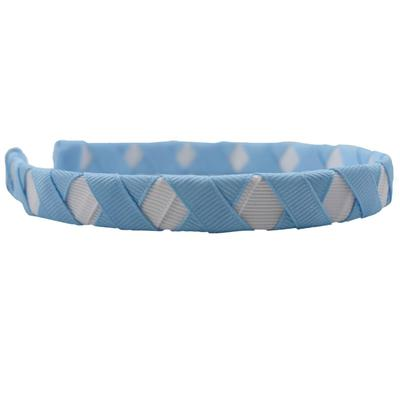 Light Blue & White Criss Cross Headband