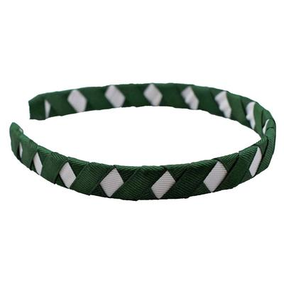Green & White Criss Cross Headband