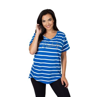 Kentucky University Girls Women's Striped Tee
