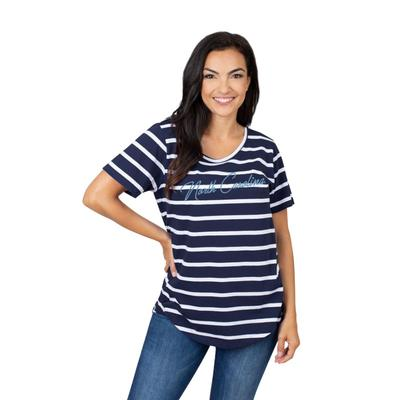 UNC University Girls Women's Striped Tee