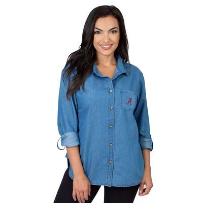 Alabama University Girls Women's Denim Shirt