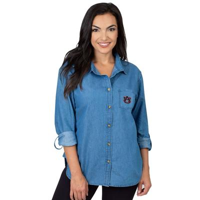 Auburn University Girls Women's Denim Shirt