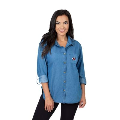 Georgia University Girls Women's Denim Shirt