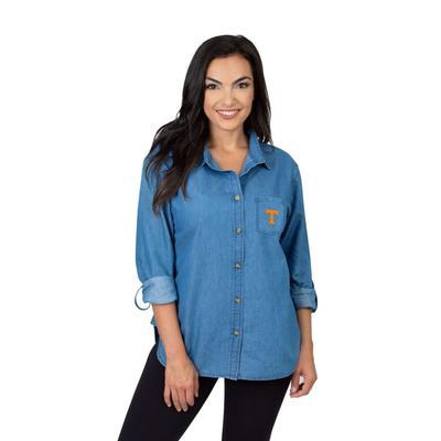 Tennessee University Girls Women's Denim Shirt