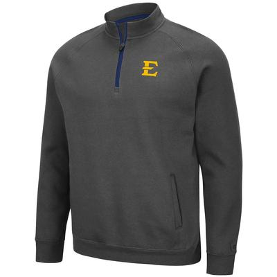 ETSU Colosseum Men's Charcoal Rally 1/4 Zip Pullover