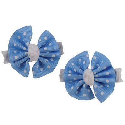 Light Blue & White Bow Pair