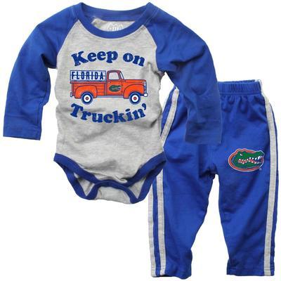 Florida Infant Keep on Truckin' Onsie Pant Set