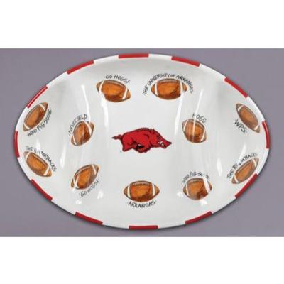 Arkansas Magnolia Lane Football Platter