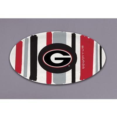 Georgia Magnolia Lane 12' Striped Platter