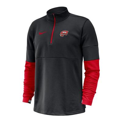 Western Kentucky Nike Men's Coaches Half Zip Pullover