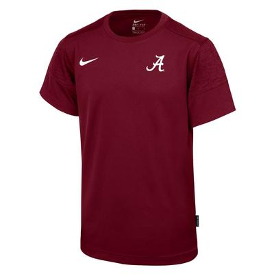 Alabama Nike Boy's Sideline Short Sleeve Coaches Tee