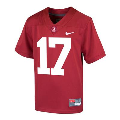 Alabama Nike Youth #17 Replica Football Jersey