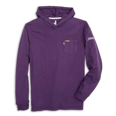 LSU Johnnie-O Men's Eller Long Sleeve Hooded Tee