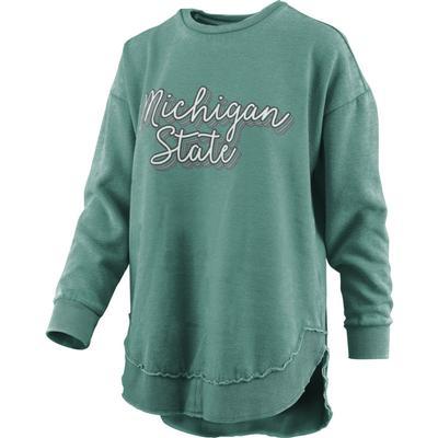 Michigan State Pressbox Go Girl Vintage Wash Sweatshirt