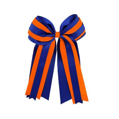 Blue & Orange Layered Ponytail Holder