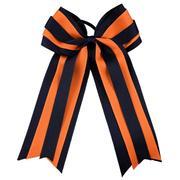 Navy & Orange Layered Ponytail Holder