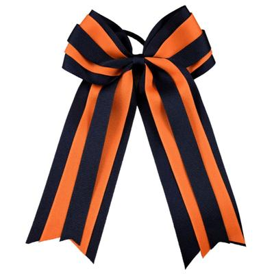 Navy & Orange Layered Ponytail Holder