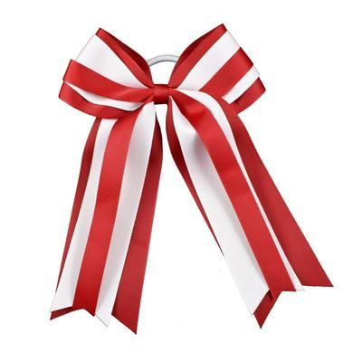 Red & White Layered Ponytail Holder