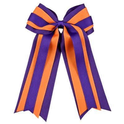 Orange & Purple Layered Ponytail Holder