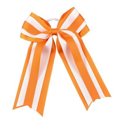 Orange & White Layered Ponytail Holder