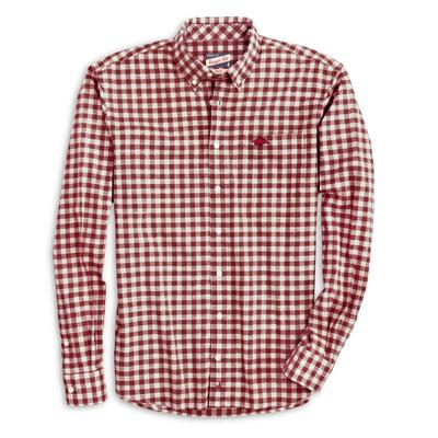 Arkansas Johnnie-O Men's Watts Long Sleeve Woven Button-Up