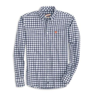 Auburn Johnnie-O Men's Watts Long Sleeve Woven Button-Up