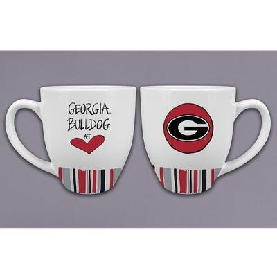 Georgia Magnolia Lane 16 oz Heart Mug