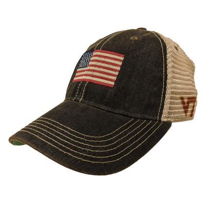 Virginia Tech Legacy US Flag Trucker Hat