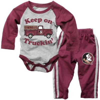 Florida State Infant Keep on Truckin' Long Sleeve Onesie Pant Set