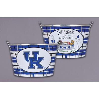 Kentucky Magnolia Lane Eat, Drink, Go Wildcats Metal Bucket