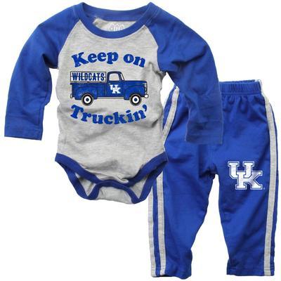 Kentucky Infant Keep on Truckin' Long Sleeve Onesie Pant Set