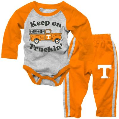 Tennessee Infant Keep on Truckin' Long Sleeve Onesie Pant Set
